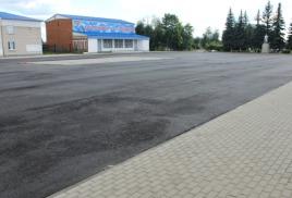 Ремонт площади Ленина в посёлке Заокском близится к завершению