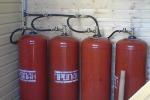 Отопление дома на газовых баллонах